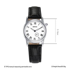 PU Leather Vintage Roman Numerals Watch - BLACK