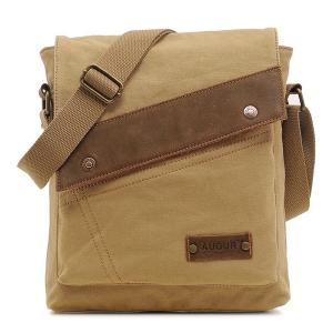 Canvas Flapped Messenger Bag - Earthy