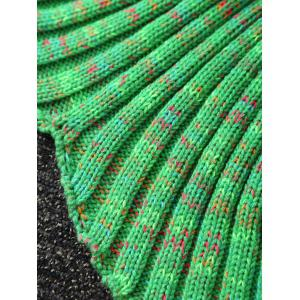 Wave Striped Hollow Out Crochet Yarn Mermaid Blanket Throw -