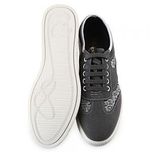 HLA Letter Print Lace Up Nubuck Casual Shoes for Men - GRAY 43