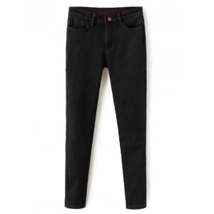 Wool Blend Super Elastic Pencil Jeans