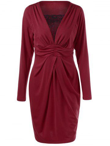 Store Plus Size Empire Waist Ruched Dress