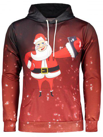 Outfit Snowflake Funny Christmas Hoodie DEEP RED 3XL