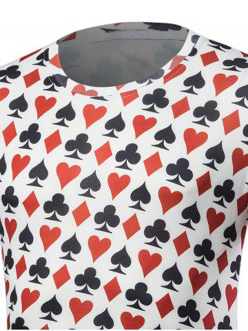 Online Poker Print Short Sleeve T-Shirt - L COLORMIX Mobile