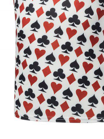 Shop Poker Print Short Sleeve T-Shirt - L COLORMIX Mobile