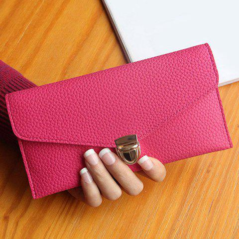 Outfit Textured PU Leather Envelope Long Wallet
