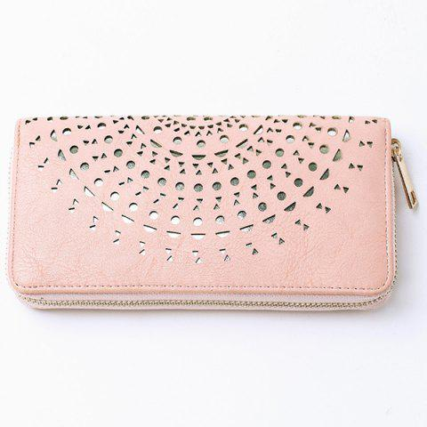 Hot Cut Out Zip Around Wallet PINK