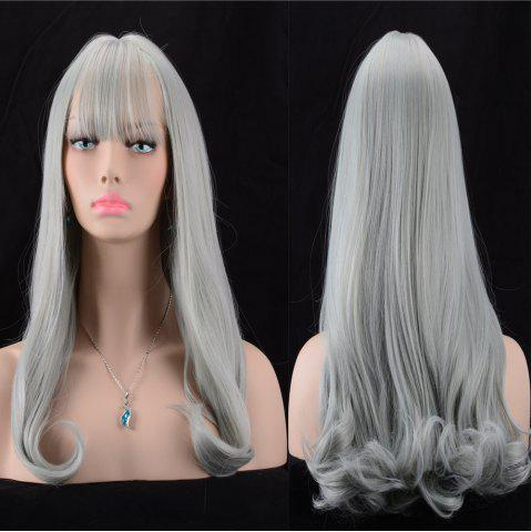 Shops Long Fluffy Full Bang Slightly Curled Synthetic Wig