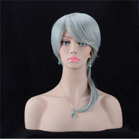 Sale Long Oblique Bang Silky Straight Synthetic Wig