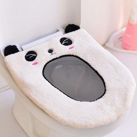 Latest Cartoon Panda Oval Washable Short Plush Toilet Seat Cover