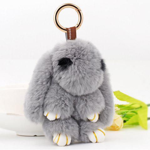 Shop Rabbit Soft Plush Pendant Keyring Bag Keychain GRAY