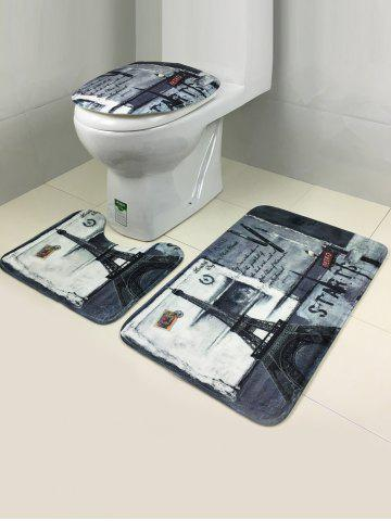 Cheap 3Pcs Retro Tower Antislip Bath and Toilet Mats Set - COLORMIX  Mobile
