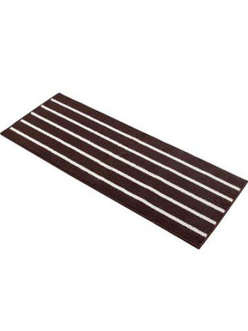 Outfit Stripe Design Water Absorbent Bath Mat - COFFEE  Mobile