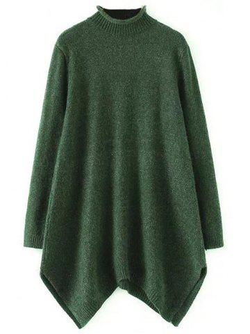 Outfits A Line Asymmetric Mock Neck Sweater