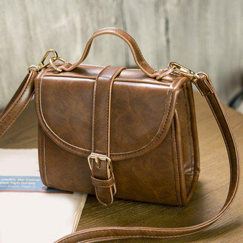 Outfits PU Leather Buckle Strap Crossbody Bag