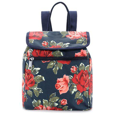 Shop Flapped Flower Print Backpack