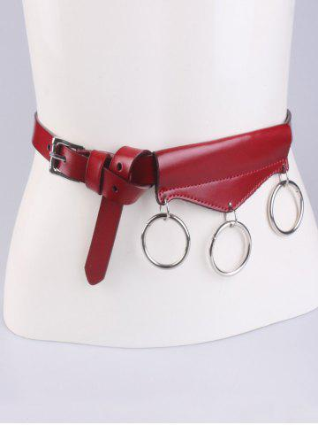Affordable Faux Leather Belt with Metal Rings