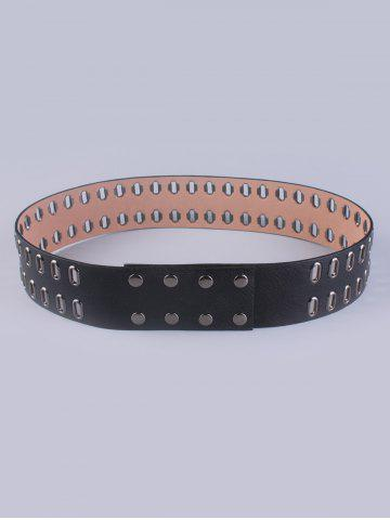 Discount Faux Leather Hollow Out Waist Belt