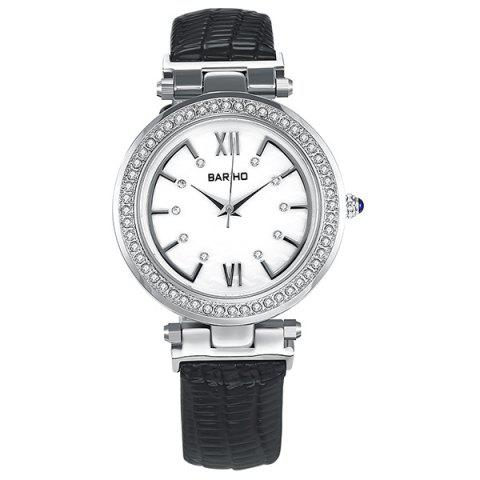 Sale Roman Numerals Dial Plate Rhinestoned Watch