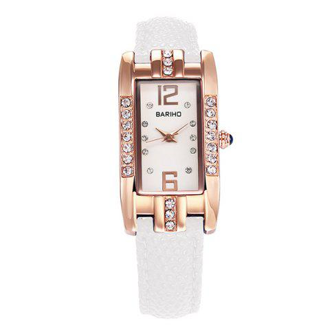 Cheap Rhinestone Geometric PU Leather Watch