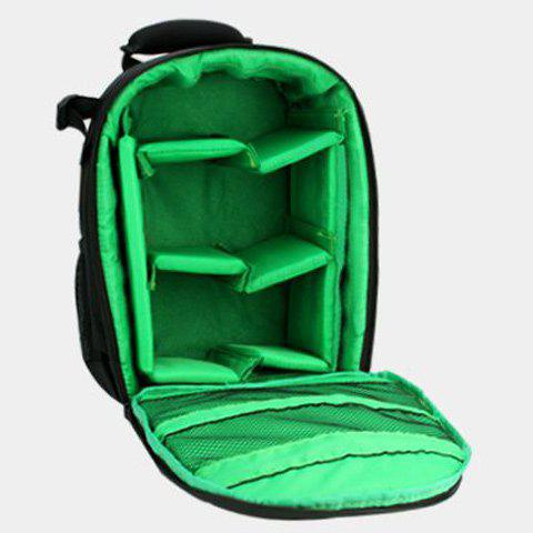 Outfits Pockets Striped Nylon Backpack - NEON GREEN  Mobile