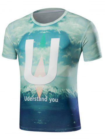 Outfits Crew Neck Short Sleeve U Print Tee