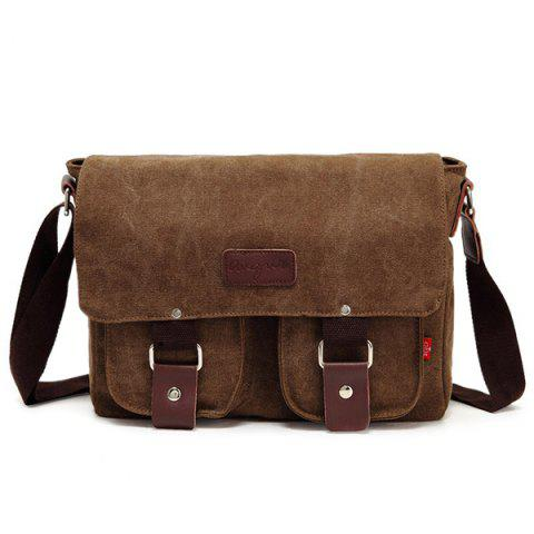 Outfits Flapped Canvas Messenger Bag
