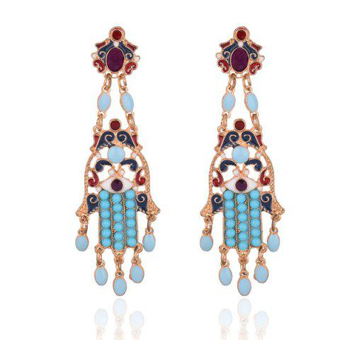 Affordable Beaded Hollow Out Chandelier Earrings