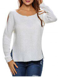 Side Slit Cut Out Sweater -