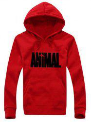 Kangaroo Pocket Animal Graphic Hoodie