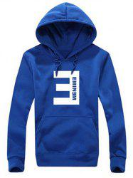 Graphic Drawstring Kangaroo Pocket Hoodie