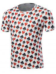 Poker Print Short Sleeve T-Shirt - COLORMIX M