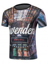 Short Sleeve 3D Graphic Printed T-Shirt -