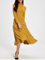 High Neck Backless Tea Length Maxi Dress
