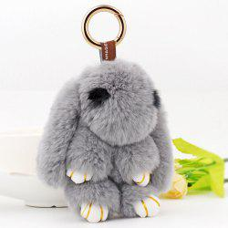 Rabbit Soft Plush Pendant Keyring Bag Keychain - GRAY