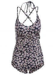 Ruffles Floral String One-Piece Swimwear