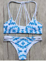 Stringy Geometric Pattern Bikini Set