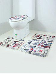 3PCS London Life Bath Rug and Mats Sets