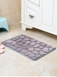 Cobblestone Coral Fleece Antislip Bathroom Entrance Carpeting -