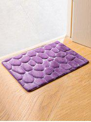Cobblestone Coral Fleece Antislip Bathroom Entrance Carpeting