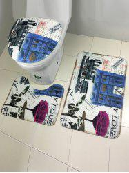 Europe Style Bath and Toilet Mats Sets 3 Pieces -