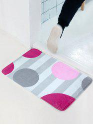 Circle Pattern Flannel Water Absorbent Antislip Door Entrance Carpet