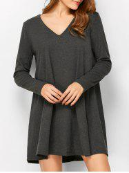Smock Long Sleeve A-Line Dress