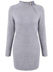 Raglan Sleeve Beaded Fitted Sweater Dress