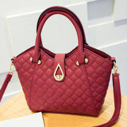 PU Leather Quilted Handbag -