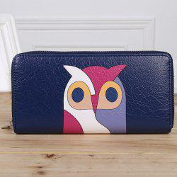 Zip Around Owl Print Wallet