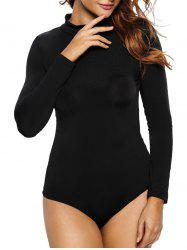 Long Sleeve Mock Neck Bodycon Bodysuit