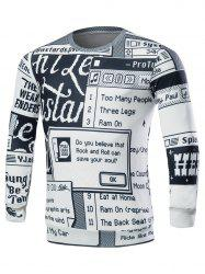 All Over Print Crew Neck Sweatshirt