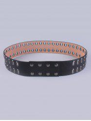 Faux Leather Hollow Out Waist Belt -