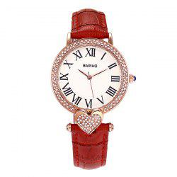 Roman Numerals Heart Rhinestone Watch